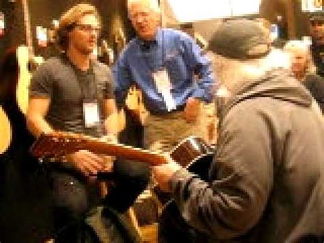 david crosby martin guitar david crosby playing at martin guitars booth namm 2011