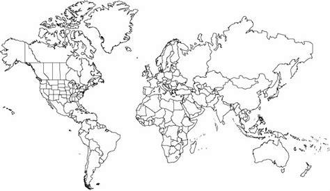 world map outline 2 world mercator outlines