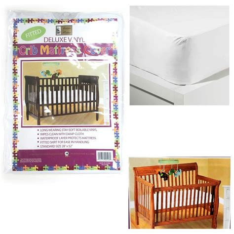 vinyl crib mattress cover crib size fitted mattress cover vinyl toddler bed allergy