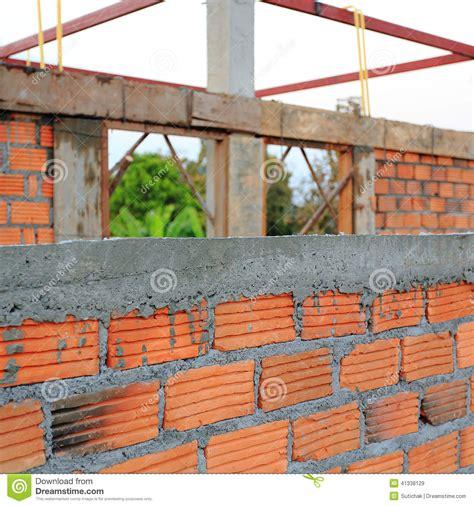 construction house wall made brick stock photo image