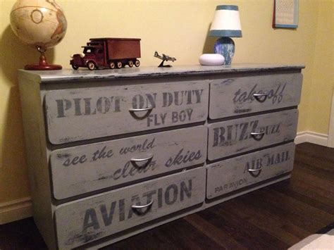 Boys Bedroom Dresser Aviation Themed Painted Grey Dresser Boys Rustic Bedrooms Pinterest Grey Dresser Aviation