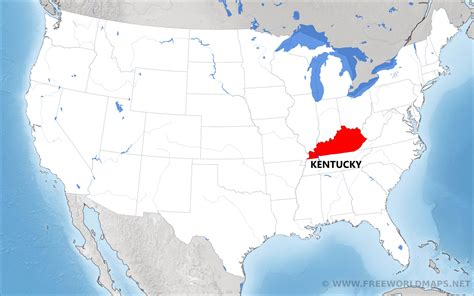 kentucky map location where is kentucky located on the map