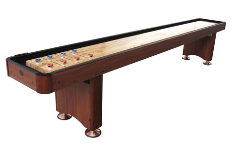 a shuffleboard table 9 cherry playcraft woodbridge shuffleboard table