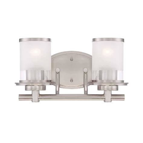 bathroom light bars brushed nickel upc 046335995536 hton bay bathroom lighting 2 light