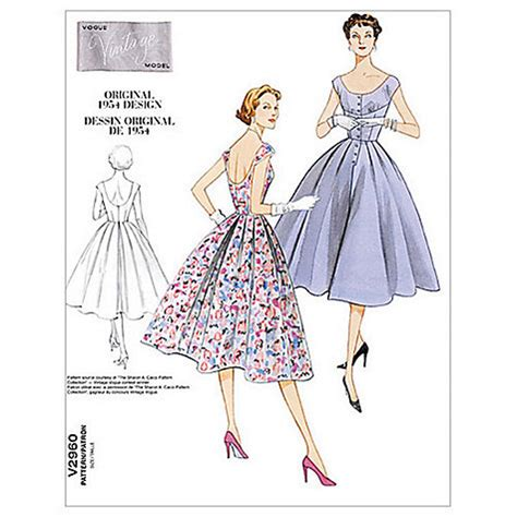 Dress Pattern John Lewis   buy vogue women s vintage model dresses sewing pattern