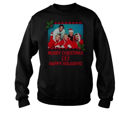 nsync merry christmas  happy holidays shirt ladies tee hoodie