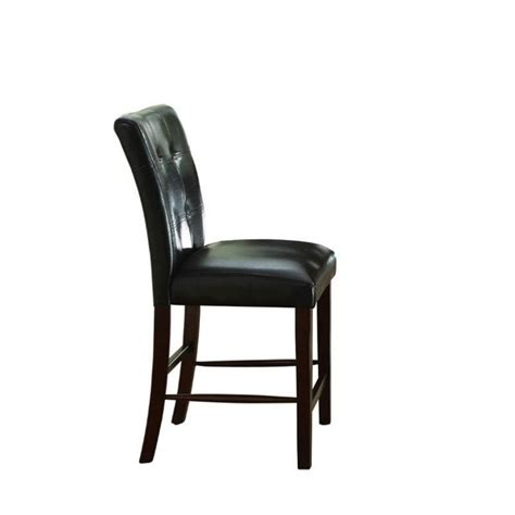 trent home decatur counter height dining chair in espresso