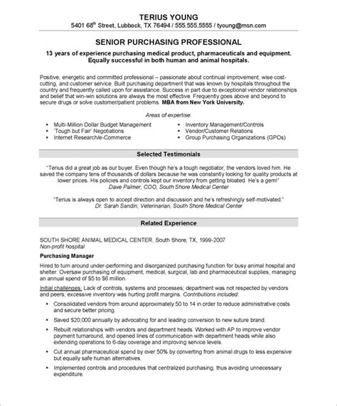 purchasing manager resume buyer resume completely transform your