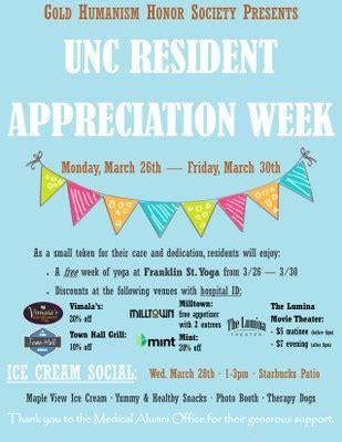 Unc Resident Appreciation Week News Room Unc Health Care Resident Appreciation Week Flyer Template