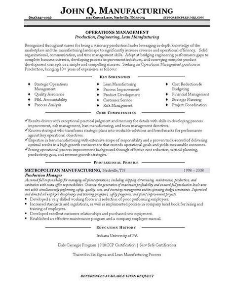 project manager competencies resume exles resume sle