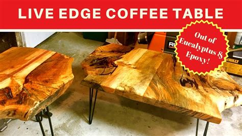 live edge coffee table diy diy woodworking live edge coffee table colored epoxy