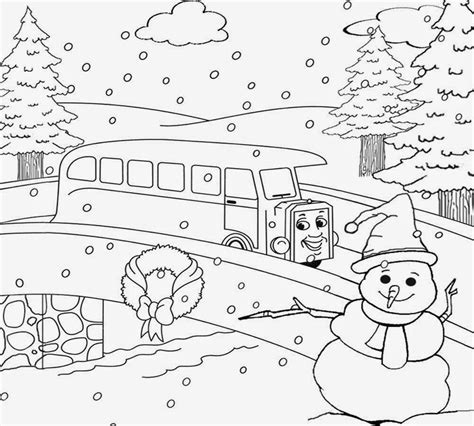 free winter village coloring pages