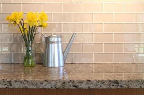 glass subway tiles for kitchen backsplash country cottage light taupe 3x6 glass subway tiles rocky