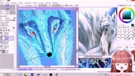 paint tool sai speedpaint nine tailed fox speedpaint speedpaint paint tool sai