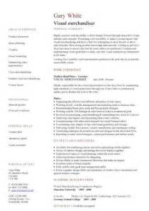 Visual Merchandiser Resume by Visual Merchandiser Cv Sle