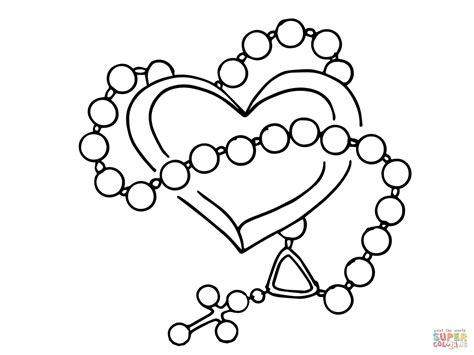 cross rosary coloring page coloring pages