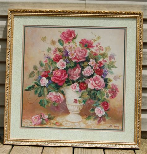 Ebay Home Interiors Home Interiors Roses Picture Signed By Artist Di Giacomo