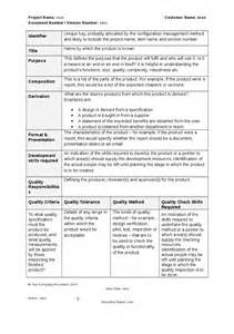 Product Description Template by Prince2 Product Description Template Hashdoc