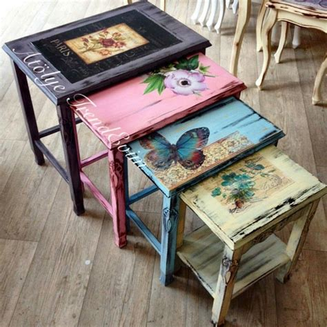 Decoupage Kitchen Table - ev dekorasyonu ah蝓ap boyama decoupage