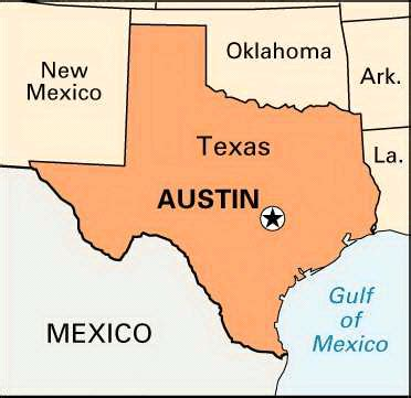 capital of texas map location encyclopedia children s homework help dictionary