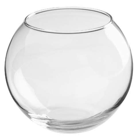 clear glass 20cm sphere fish bowl flower candle decor