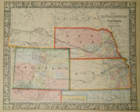 colorado kansas map antique maps of colorado