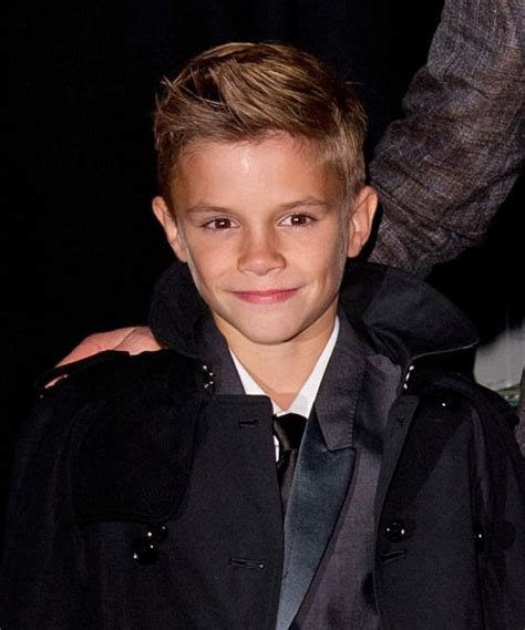 romeo beckham hairstyle viva forever musical press night at the piccadilly