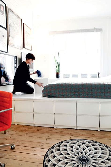 Boxspring Bett Selber Bauen 64 by Platform Bed By Window With Storage Design Interiors