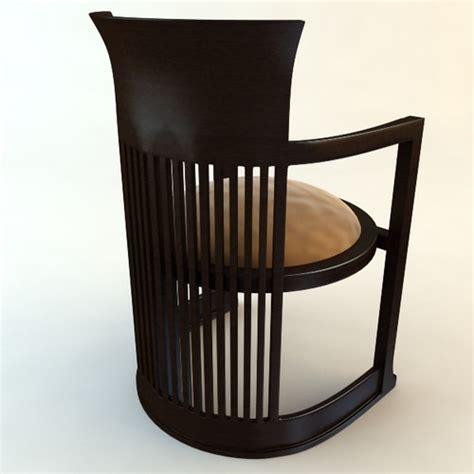 Frank Lloyd Wright Barrel Chair Frank Lloyd Wright Barrel Chair 3d Model Max Obj 3ds Fbx