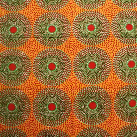 100 design house 20x50 the four circular fabric record ankara fabric orange and green 1 yard urbanstax