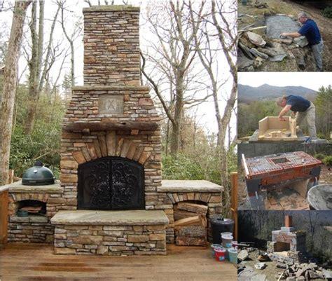 backyard fireplace diy best 20 diy outdoor fireplace ideas on