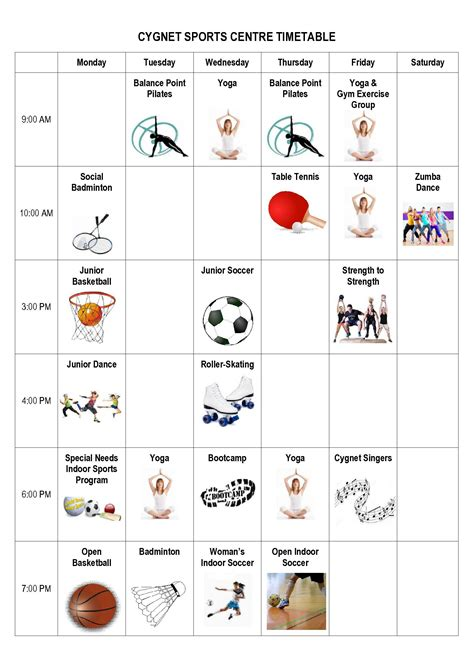 Tas Pool Timetable cygnet sports centre timetable 2016 v1 2 huon valley