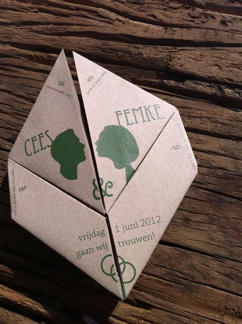Origami Wedding Invitations - goes wedding 187 origami wedding invitation by cees mensen