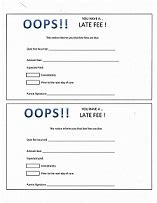 Daycare Payment Reminder Letter Printable Daycare Forms Late Fee Notice