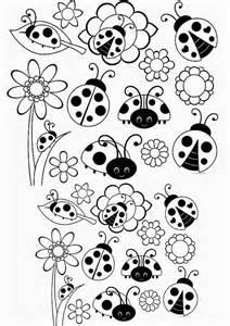 Ba 218 da web desenhos e riscos de joaninhas para colorir pintar