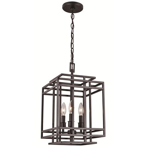 Safavieh Lighting Trans Globe Lighting 10403 Bk 3 Light Square Pendant In Black