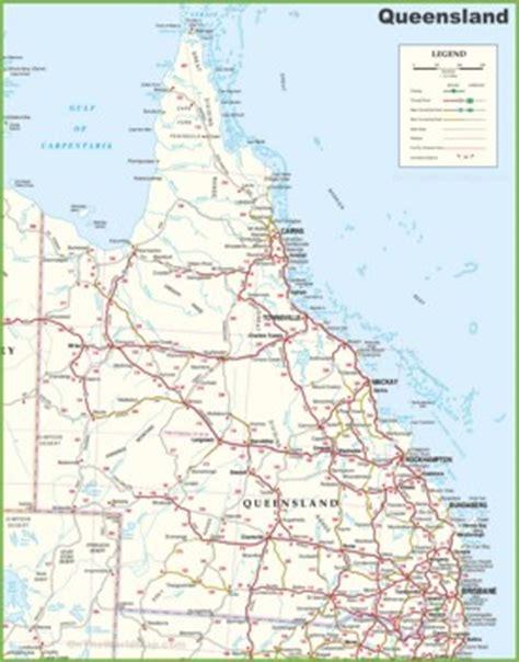 printable australia road map queensland state maps australia maps of queensland qld