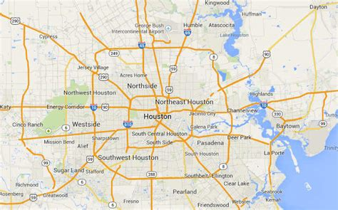 map of houston las vegas to houston map