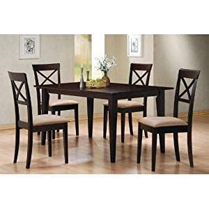 casual dining sets with bench amazon com 5pc casual dining table chairs set