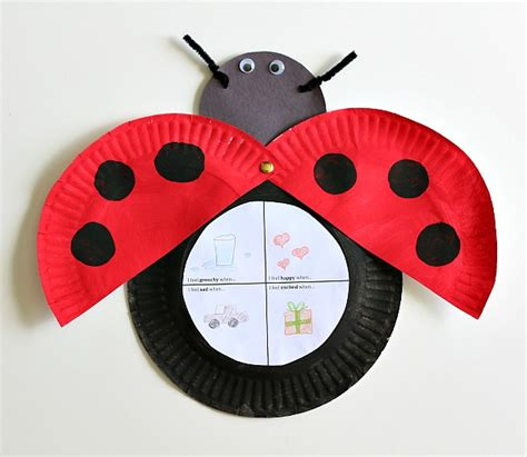 Ladybug Paper Plate Craft - the grouchy ladybug craft for with free printable