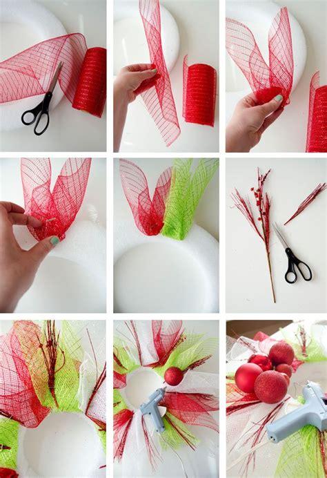 how to make a wreath how to make a deco mesh wreath