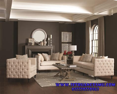 Kursi Tamu Minimalis Sofa Furniture Kayu Interior Rumah jual sofa ruang tamu minimalis 1 set furniture set ruang