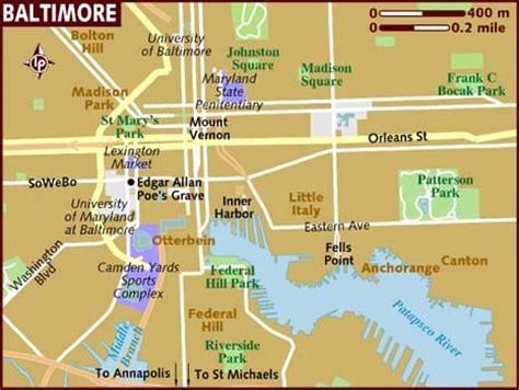 baltimore usa map map of baltimore