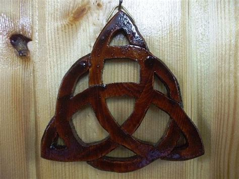 Handmade Wood Carvings - handmade wood carving carved wooden celtic knots plaque