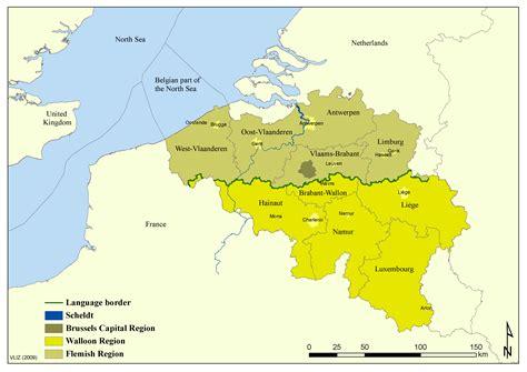 regions of belgium map belgium map regions