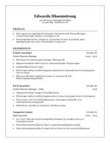 Traditional Resume Template by 30 Basic Resume Templates