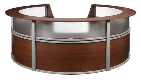Oval Reception Desk 1pc Oval Modern Contemporary Office Reception Desk Of Map R5 Ebay