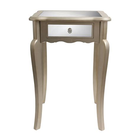 silver accent tables shop decor therapy silver leaf end table at lowes com