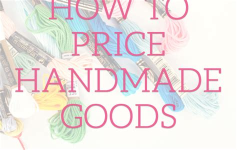 How To Price Handmade Items - accounting for overhead expenses in your prices paper