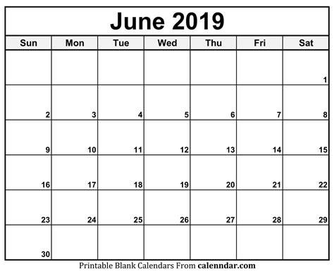 june calendar blank template printable monthly